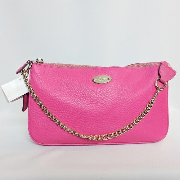 42b41e74e0f Coach Bags | Bag Nwt Pink Ruby With Gold Chain Strap | Poshmark